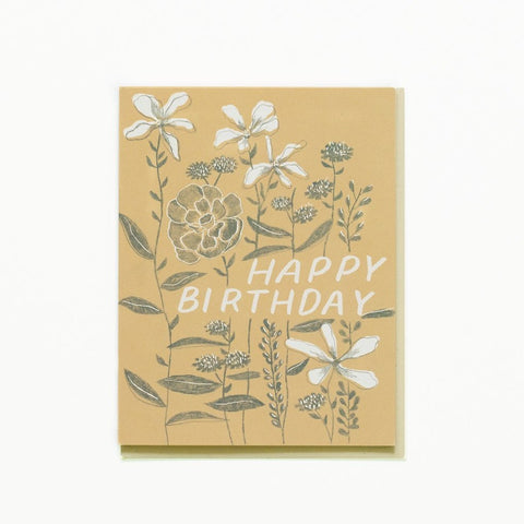 Growing Flowers Bday Card