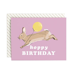 Hoppy Birthday Bunny Card