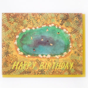 Hot Springs Bday Card