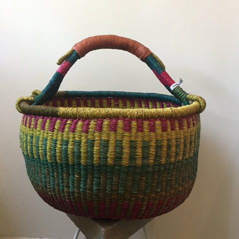 Large Colorful African Basket