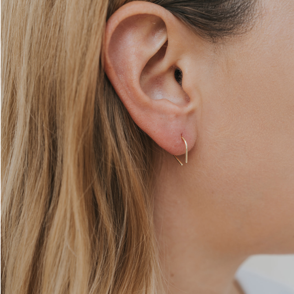 Minimalist Horseshoe Earrings