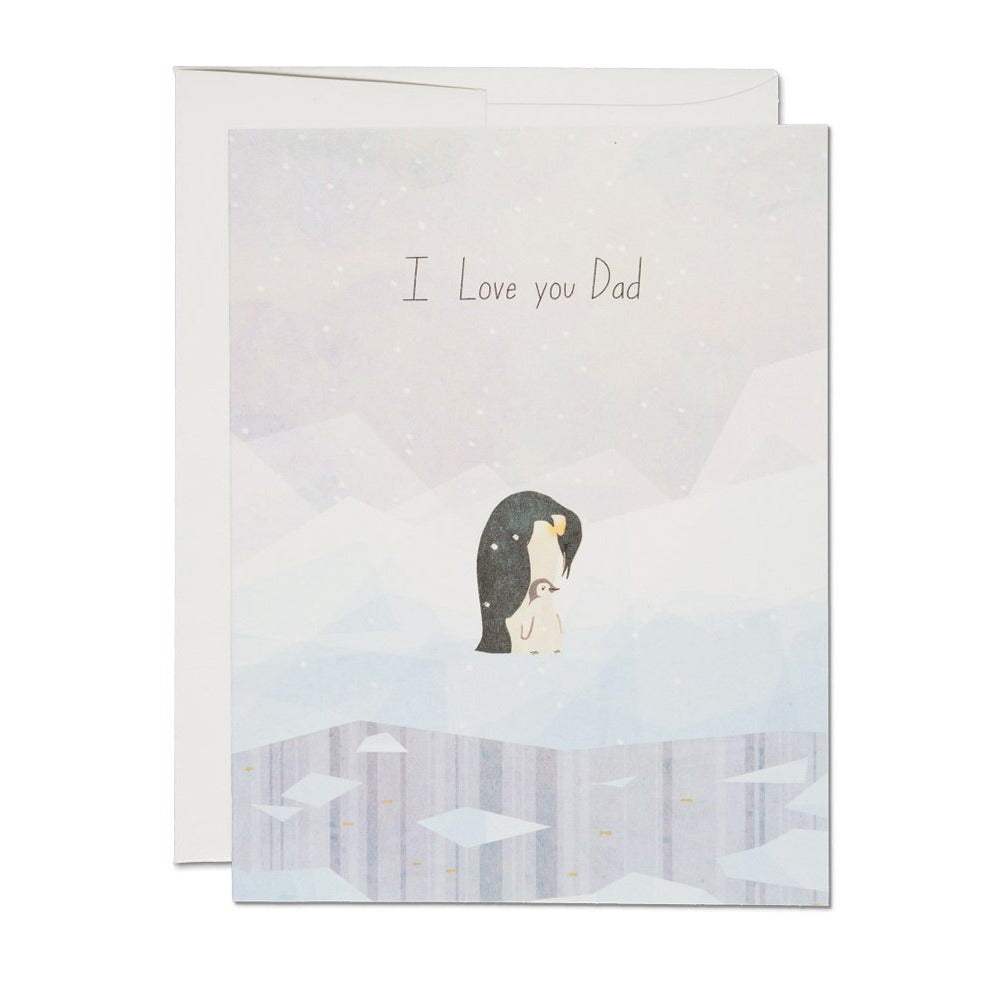 Penguin Dad Card