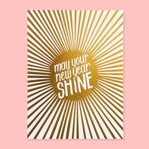 Shiny New Year Card (Boxed Set of 6)