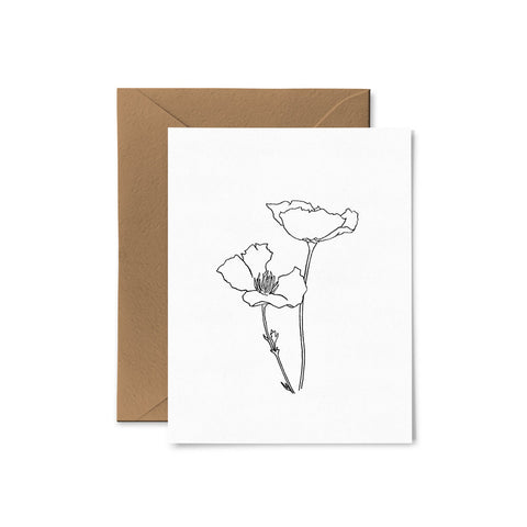 CA Poppies Card