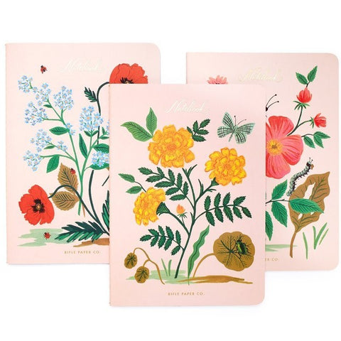 Stitched Botanical Notebook Set
