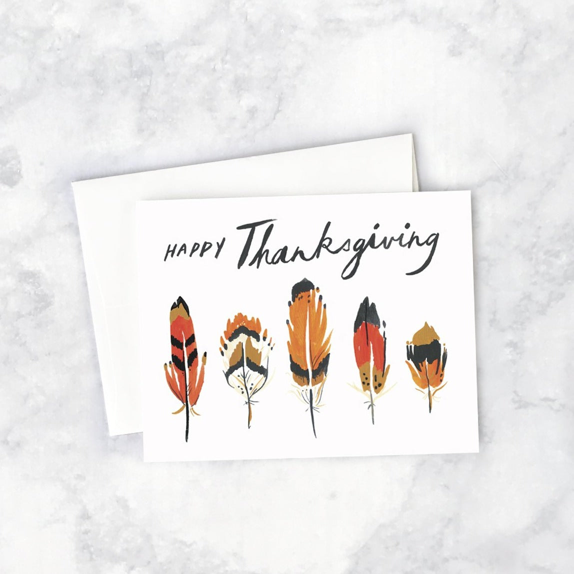 Thanksgiving Feathers Card