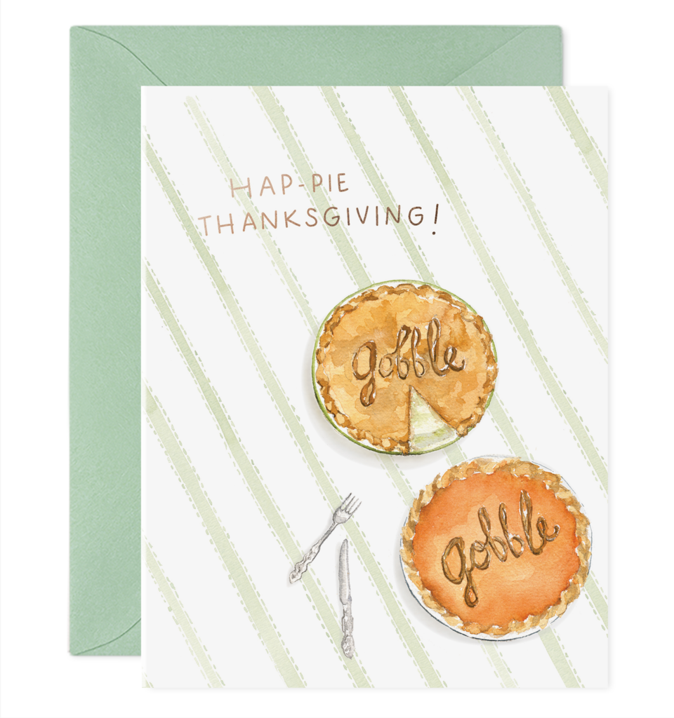 Thanksgiving Pie Card