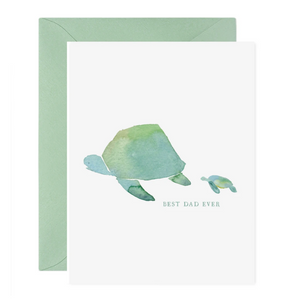 Turtle Best Dad Card