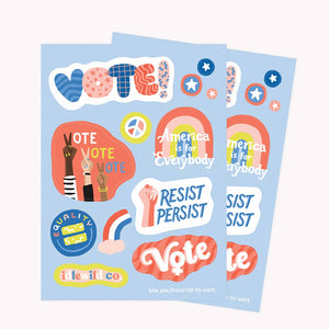 Vote Sticker Sheets