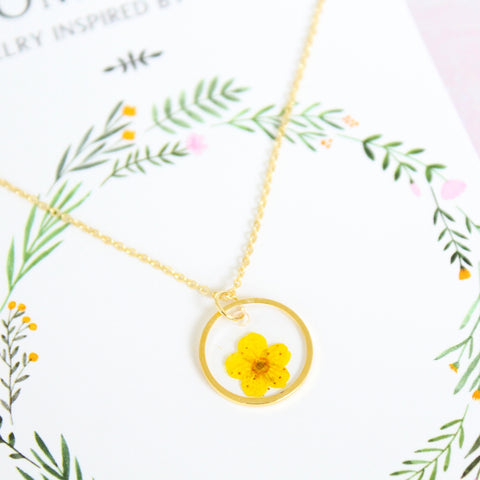 Yellow Flower Necklace