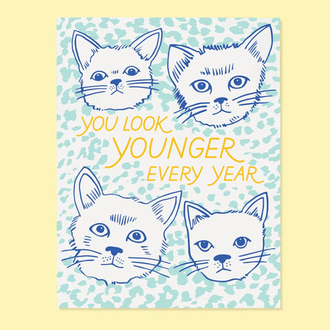 Younger Cats Card