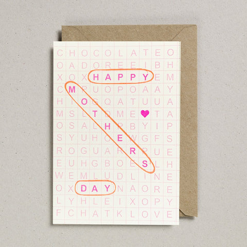 Word Search Mothers Day Card