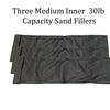 Sandbag Training Sand Fillers - Three Pack of 30lb Fillers - 27in X 9in
