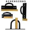 Super Heavy Duty Wall / Ceiling Mount Fitness Anchor - Two Pack