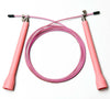High Speed Cable Jump Rope - 10 feet long cable with fully adjustable length. Super fast and great for Double Unders - Pink Intermediate