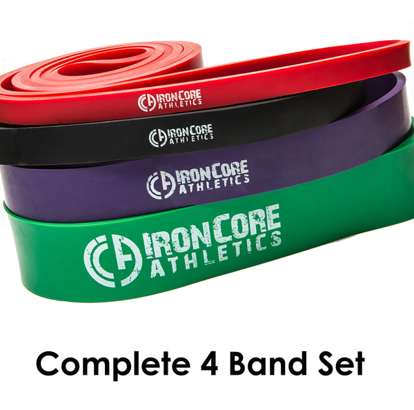 "ICA 41"" Loop Exercise Bands - Set of 4 bands - #2, #3, #4, #5 – Provides 10 – 285lbs Resistance / Assistance"