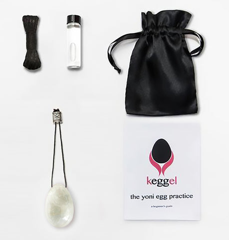 Hollow Moon Starter Kit: Clear Quartz Yoni Egg