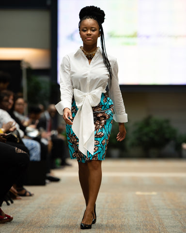 Women's Tea Length African/Ankara Skirt