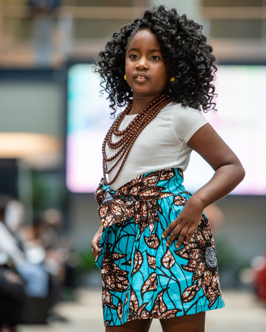 Girls African Ankara Skirt