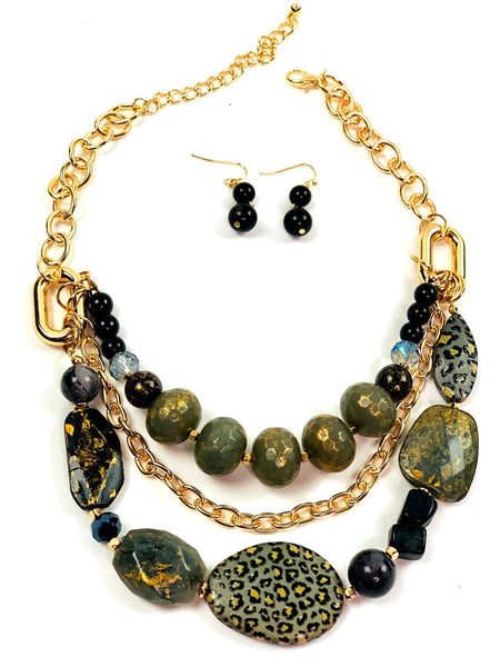 Olive Statement Necklace Set - Jewellery Unique Gifts & Accessories