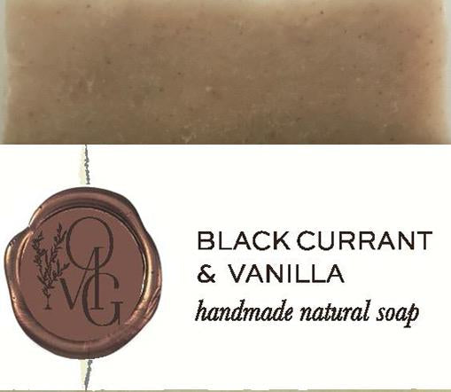 Black Currant And Vanilla Handmade Natural Soap