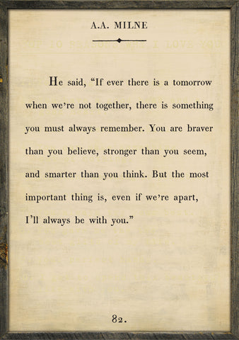a.a milne book collection art print...