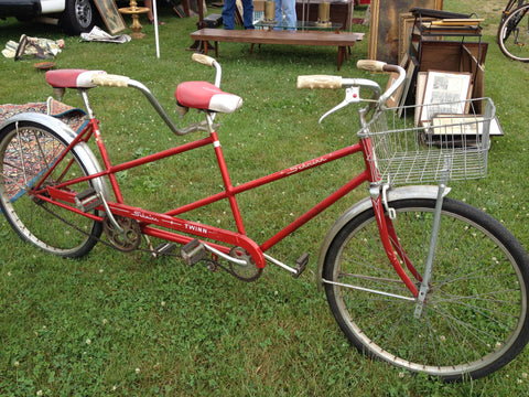 vintage schwinn twin tandem bicycle...
