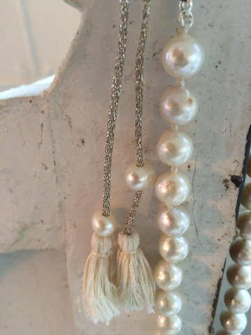 chan luu cultured pearl tassel necklace...