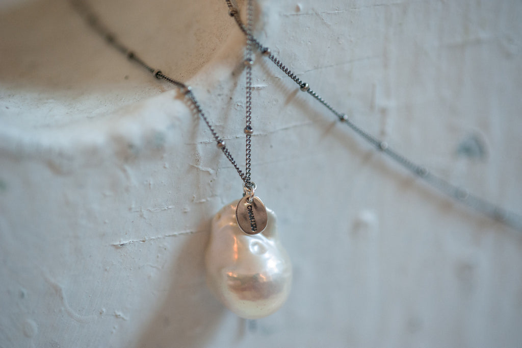 chan luu pearl necklace...