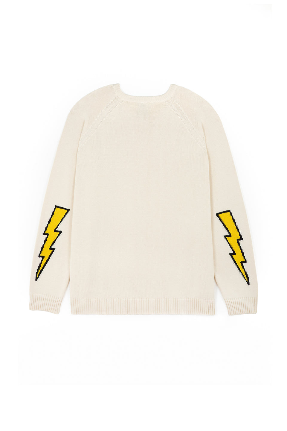 Bolt Arm Cardigan (White)