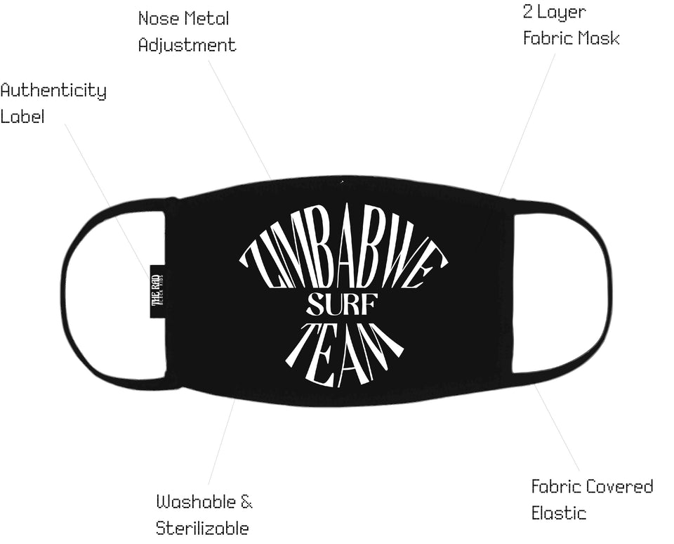 Zimbabwe Surf Team Mask