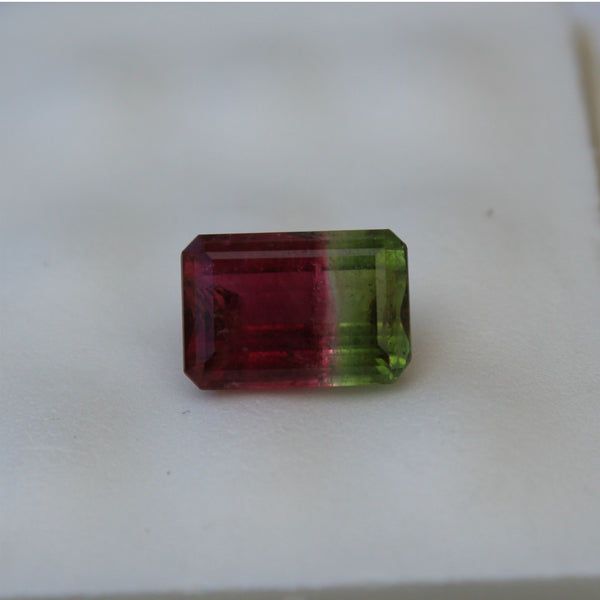 Tri Color Tourmaline Gemstone - 12.25 cts. Emerald Cut - Amazon Imports, Inc. - Fine Quality Gemstones and Jewelry Since 1978