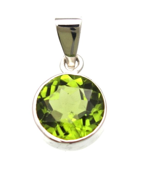 Peridot Pendant in Sterling Silver Bezel Stetting - Amazon Imports, Inc. - Fine Quality Gemstones and Jewelry Since 1978