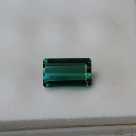 Blue-Green Tourmaline Gemstone - 6.92 cts. Emerald Cut - Amazon Imports, Inc. - Fine Quality Gemstones and Jewelry Since 1978