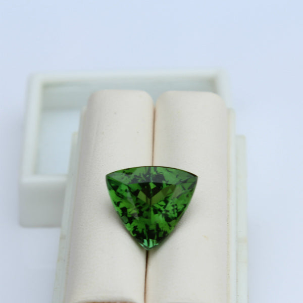 Green Tourmaline Gemstone - 6.15 cts. Trillion - Amazon Imports, Inc. - Fine Quality Gemstones and Jewelry Since 1978