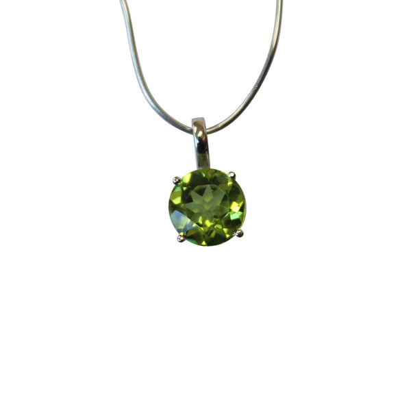 Peridot Gemstone Pendant in 14kt. White Gold - Amazon Imports, Inc. - Fine Quality Gemstones and Jewelry Since 1978