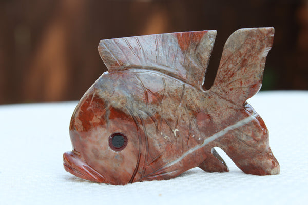 Large Fish Soapstone Animal Carving - Amazon Imports, Inc. - Fine Quality Gemstones and Jewelry Since 1978