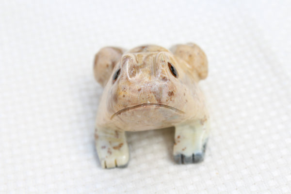 Frog Soapstone Animal Carving - Amazon Imports, Inc. - Fine Quality Gemstones and Jewelry Since 1978
