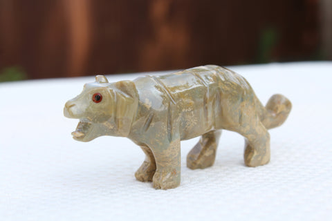 Tiger Soapstone  Animal Carving - Amazon Imports, Inc. - Fine Quality Gemstones and Jewelry Since 1978