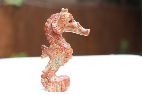 Sea Horse Soapstone Animal Carving - Amazon Imports, Inc. - Fine Quality Gemstones and Jewelry Since 1978