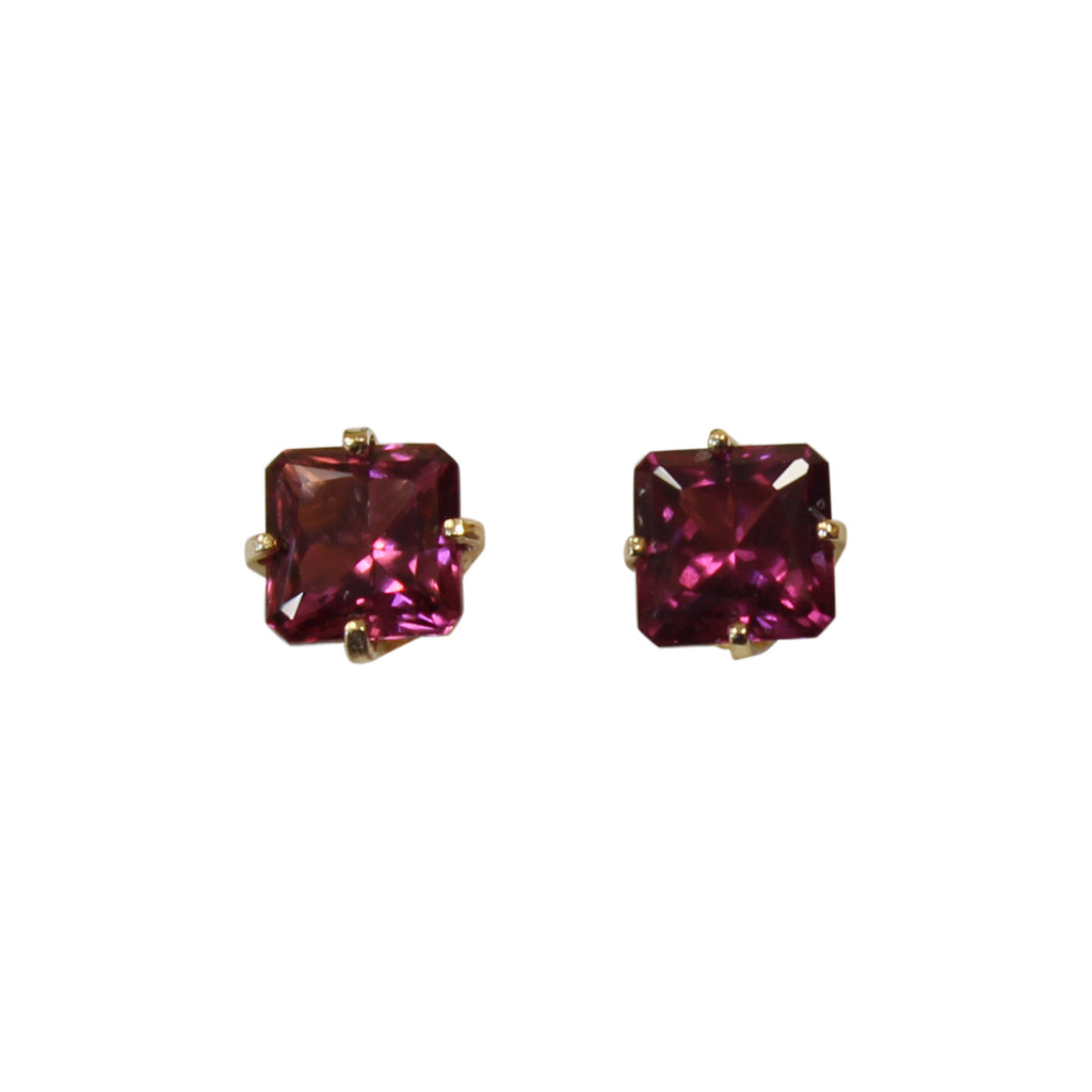 Rhodolite Garnet Gemstone Earrings in 14kt. Gold - Amazon Imports, Inc. - Fine Quality Gemstones and Jewelry Since 1978