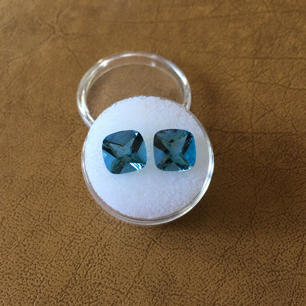 London Blue Topaz Gemstone - 7.30 cts. matched pair - Amazon Imports, Inc. - Fine Quality Gemstones and Jewelry Since 1978