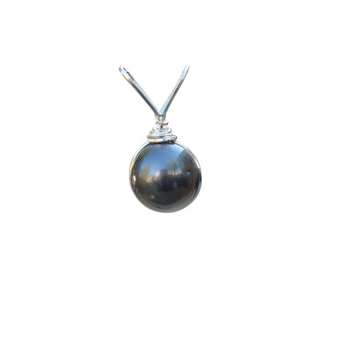 Natural South Sea Black Pearl Gemstone Pendant in Sterling Silver - Amazon Imports, Inc. - Fine Quality Gemstones and Jewelry Since 1978