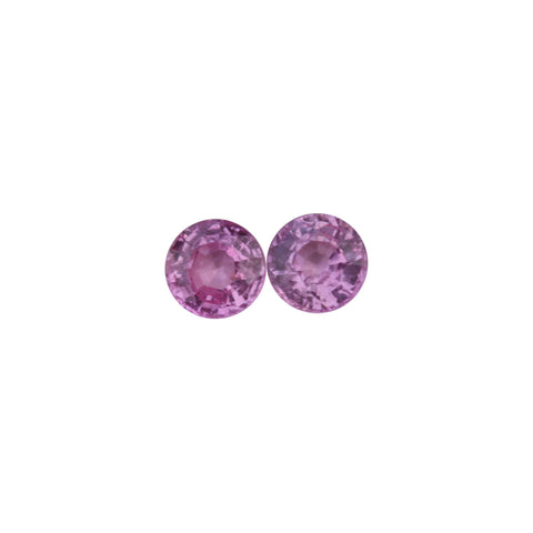 Pink Sapphire Gemstones - 1.41 cts.  Matched Pair Round - Amazon Imports, Inc. - Fine Quality Gemstones and Jewelry Since 1978