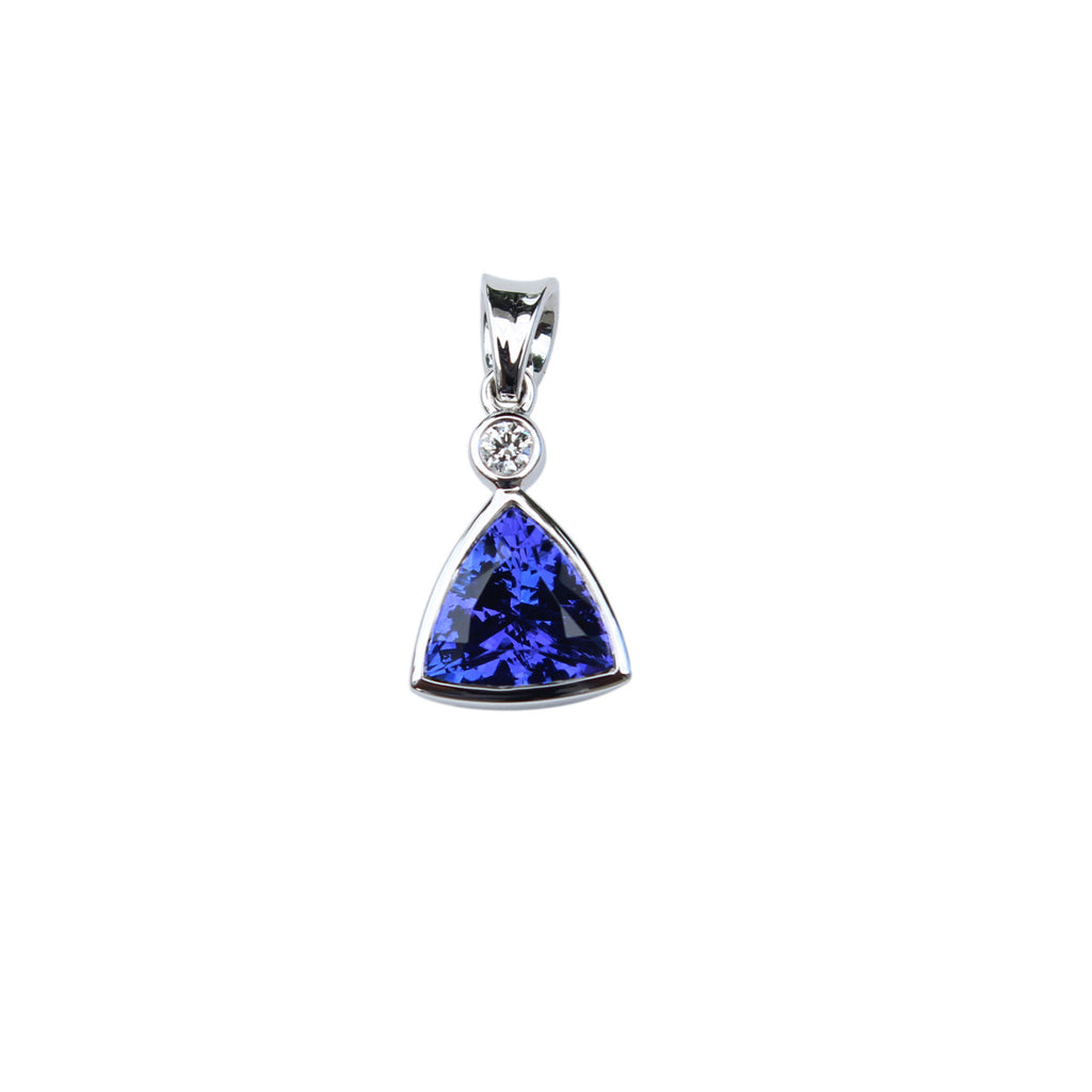 anniversary cut rings trillion simulated tanzanite ring pin