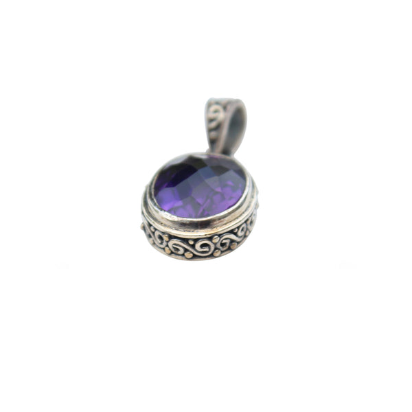 Amethyst Gemstone Bezel Set in Sterling Silver - Amazon Imports, Inc. - Fine Quality Gemstones and Jewelry Since 1978