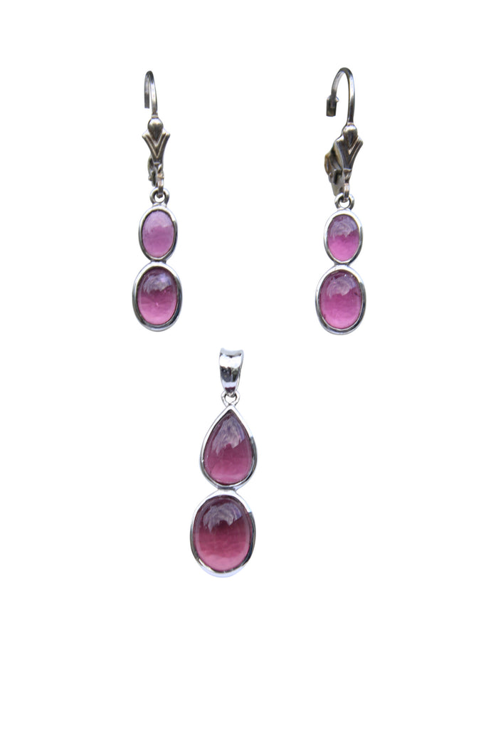 Pink Tourmaline Earring & Pendant Set - Amazon Imports, Inc. - Fine Quality Gemstones and Jewelry Since 1978