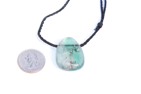 Fluorite Tumbled Gemstone Adjustable Necklace - Amazon Imports, Inc. - Fine Quality Gemstones and Jewelry Since 1978