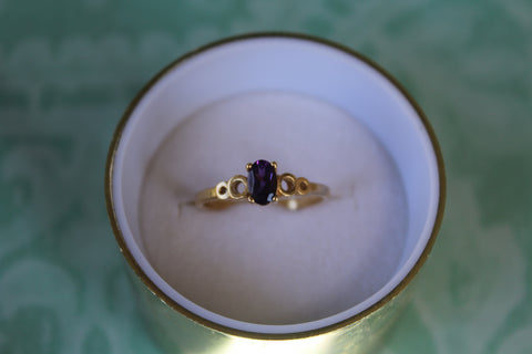 Amethyst Ring in 14 kt. Gold