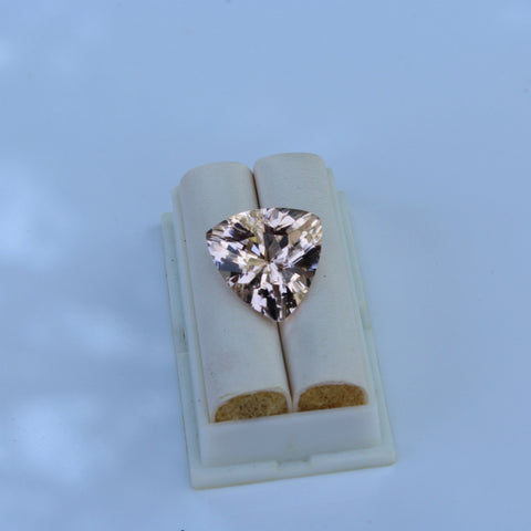 Morganite Gemstone  -  11.67 cts.  Trillion cut - Amazon Imports, Inc. - Fine Quality Gemstones and Jewelry Since 1978